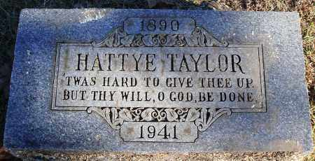 TAYLOR, HATTYE - Conway County, Arkansas | HATTYE TAYLOR - Arkansas Gravestone Photos