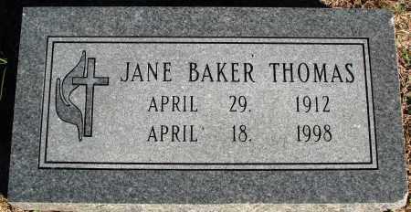 BAKER THOMAS, JANE - Conway County, Arkansas | JANE BAKER THOMAS - Arkansas Gravestone Photos