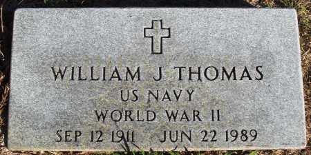 THOMAS (VETERAN WWII), WILLIAM J - Conway County, Arkansas | WILLIAM J THOMAS (VETERAN WWII) - Arkansas Gravestone Photos