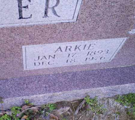 TINER, ARKIE - Conway County, Arkansas   ARKIE TINER - Arkansas Gravestone Photos