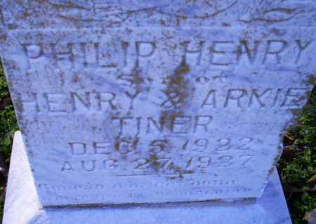TINER, PHILIP HENRY - Conway County, Arkansas | PHILIP HENRY TINER - Arkansas Gravestone Photos