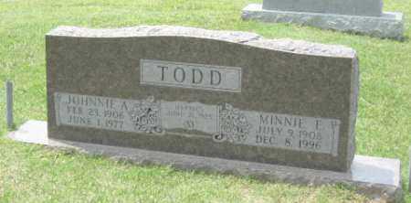 WILLIS TODD, MINNIE - Conway County, Arkansas | MINNIE WILLIS TODD - Arkansas Gravestone Photos