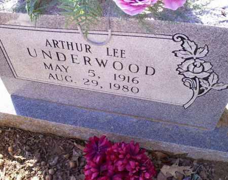 UNDERWOOD, ARTHUR LEE - Conway County, Arkansas   ARTHUR LEE UNDERWOOD - Arkansas Gravestone Photos