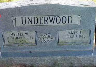 UNDERWOOD, JAMES J. - Conway County, Arkansas | JAMES J. UNDERWOOD - Arkansas Gravestone Photos