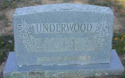 JONES UNDERWOOD, CLARISA (CLARISA LENORA) - Conway County, Arkansas | CLARISA (CLARISA LENORA) JONES UNDERWOOD - Arkansas Gravestone Photos