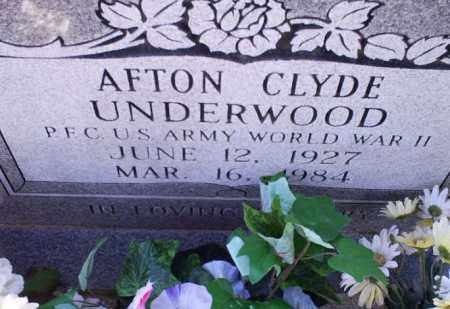 UNDERWOOD (VETERAN WWII), AFTON CLYDE - Conway County, Arkansas | AFTON CLYDE UNDERWOOD (VETERAN WWII) - Arkansas Gravestone Photos