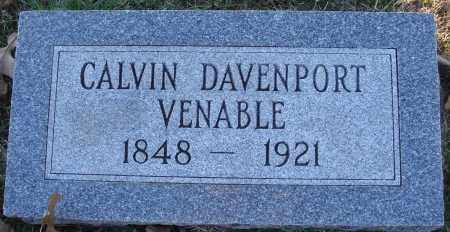 VENABLE, CALVIN DAVENPORT - Conway County, Arkansas | CALVIN DAVENPORT VENABLE - Arkansas Gravestone Photos