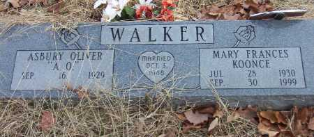 KOONCE WALKER, MARY FRANCES - Conway County, Arkansas | MARY FRANCES KOONCE WALKER - Arkansas Gravestone Photos