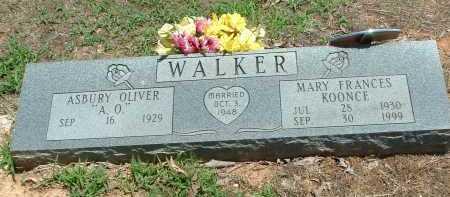 WALKER, MARY FRANCES - Conway County, Arkansas   MARY FRANCES WALKER - Arkansas Gravestone Photos