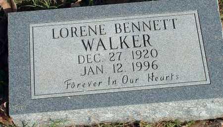 WALKER, LORENE BENNETT - Conway County, Arkansas | LORENE BENNETT WALKER - Arkansas Gravestone Photos
