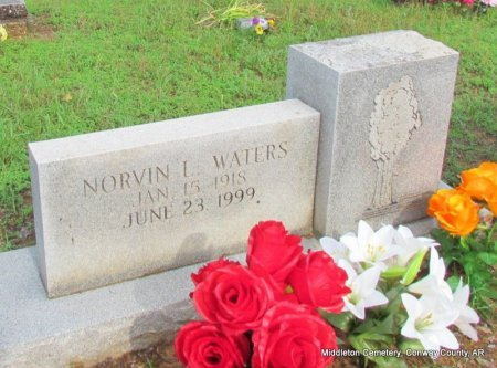 WATERS, NORVIN LINCOLN - Conway County, Arkansas | NORVIN LINCOLN WATERS - Arkansas Gravestone Photos