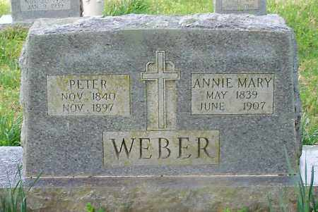 WEBER, PETER - Conway County, Arkansas | PETER WEBER - Arkansas Gravestone Photos