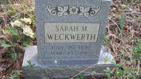 WECKWERTH, SARAH M - Conway County, Arkansas | SARAH M WECKWERTH - Arkansas Gravestone Photos