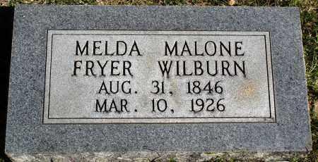 MALONE WILBURN, MELDA - Conway County, Arkansas | MELDA MALONE WILBURN - Arkansas Gravestone Photos