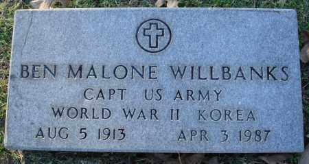WILLBANKS  (VETERAN 2 WARS), BEN MALONE - Conway County, Arkansas | BEN MALONE WILLBANKS  (VETERAN 2 WARS) - Arkansas Gravestone Photos