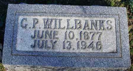 WILLBANKS, G. P. - Conway County, Arkansas | G. P. WILLBANKS - Arkansas Gravestone Photos