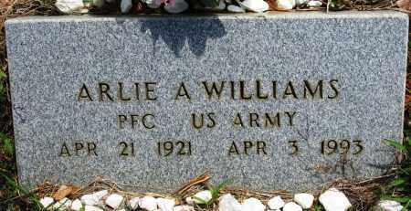 WILLIAMS (VETERAN), ARLIE A - Conway County, Arkansas | ARLIE A WILLIAMS (VETERAN) - Arkansas Gravestone Photos