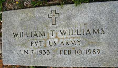 WILLIAMS (VETERAN), WILLIAM T - Conway County, Arkansas | WILLIAM T WILLIAMS (VETERAN) - Arkansas Gravestone Photos
