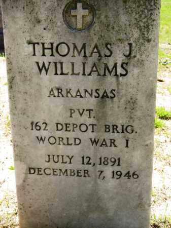 WILLIAMS (VETERAN WWI), THOMAS J - Conway County, Arkansas | THOMAS J WILLIAMS (VETERAN WWI) - Arkansas Gravestone Photos