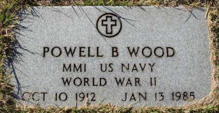 WOOD  (VETERAN WWII), POWELL B - Conway County, Arkansas   POWELL B WOOD  (VETERAN WWII) - Arkansas Gravestone Photos