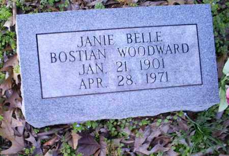 BOSTIAN WOODWARD, JANIE BELLE - Conway County, Arkansas | JANIE BELLE BOSTIAN WOODWARD - Arkansas Gravestone Photos