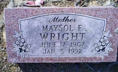 WRIGHT, MAYSOL F. - Conway County, Arkansas | MAYSOL F. WRIGHT - Arkansas Gravestone Photos