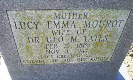 MOUROT YATES, LUCY EMMA - Conway County, Arkansas | LUCY EMMA MOUROT YATES - Arkansas Gravestone Photos