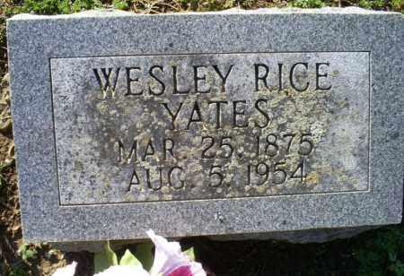 YATES, WESLEY RICE - Conway County, Arkansas | WESLEY RICE YATES - Arkansas Gravestone Photos