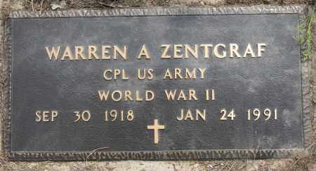 ZENTGRAF (VETERAN WWII), WARREN A - Conway County, Arkansas | WARREN A ZENTGRAF (VETERAN WWII) - Arkansas Gravestone Photos