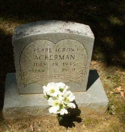 CROW ACKERMAN, PEARL - Craighead County, Arkansas | PEARL CROW ACKERMAN - Arkansas Gravestone Photos