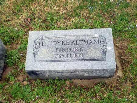 "ALTMAN, E J ""DYKE"" - Craighead County, Arkansas | E J ""DYKE"" ALTMAN - Arkansas Gravestone Photos"