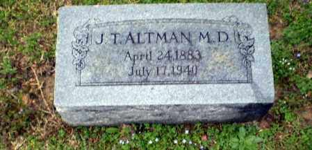 ALTMAN, DR. J T - Craighead County, Arkansas | DR. J T ALTMAN - Arkansas Gravestone Photos