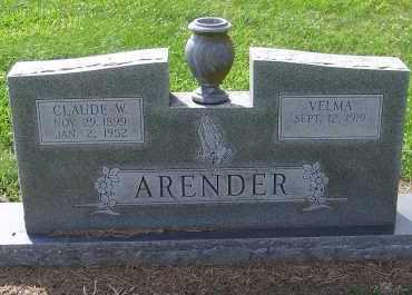 ARENDER, VELMA - Craighead County, Arkansas | VELMA ARENDER - Arkansas Gravestone Photos