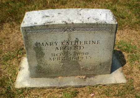 ARGEND, MARY KATHERINE - Craighead County, Arkansas   MARY KATHERINE ARGEND - Arkansas Gravestone Photos
