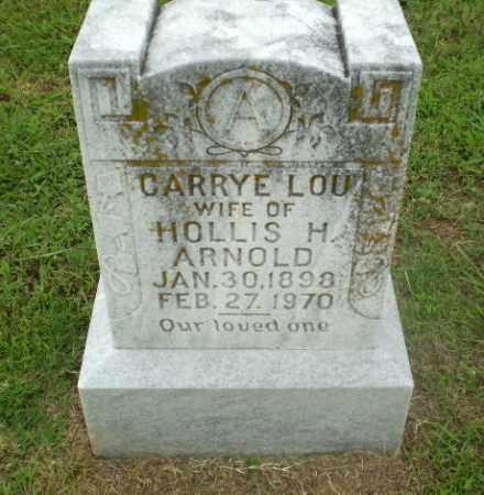 ARNOLD, CARRYE LOU - Craighead County, Arkansas | CARRYE LOU ARNOLD - Arkansas Gravestone Photos