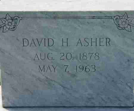 ASHER, DAVID H - Craighead County, Arkansas | DAVID H ASHER - Arkansas Gravestone Photos