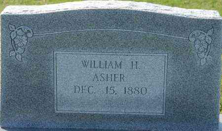 ASHER, WILLIAM H - Craighead County, Arkansas | WILLIAM H ASHER - Arkansas Gravestone Photos