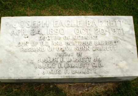 BARRETT, DR. JOSEPH EAGLE - Craighead County, Arkansas | DR. JOSEPH EAGLE BARRETT - Arkansas Gravestone Photos