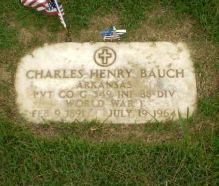 BAUCH  (VETERAN WWI), CHARLES HENRY - Craighead County, Arkansas | CHARLES HENRY BAUCH  (VETERAN WWI) - Arkansas Gravestone Photos