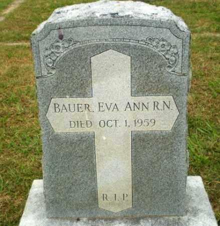 BAUER, EVA ANN - Craighead County, Arkansas | EVA ANN BAUER - Arkansas Gravestone Photos