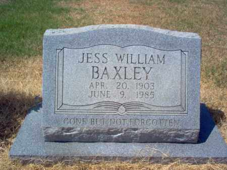 BAXLEY, JESS WILLIAM - Craighead County, Arkansas | JESS WILLIAM BAXLEY - Arkansas Gravestone Photos
