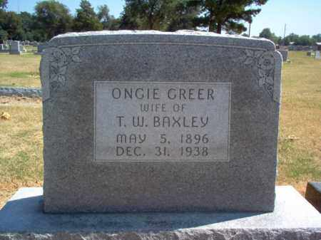 GREER BAXLEY, ONGIE - Craighead County, Arkansas | ONGIE GREER BAXLEY - Arkansas Gravestone Photos