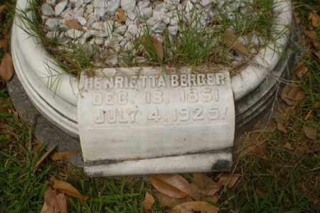 BERGER, HENRIETTA - Craighead County, Arkansas | HENRIETTA BERGER - Arkansas Gravestone Photos