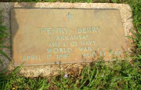 BERRY (VETERAN WWI), HENRY - Craighead County, Arkansas   HENRY BERRY (VETERAN WWI) - Arkansas Gravestone Photos