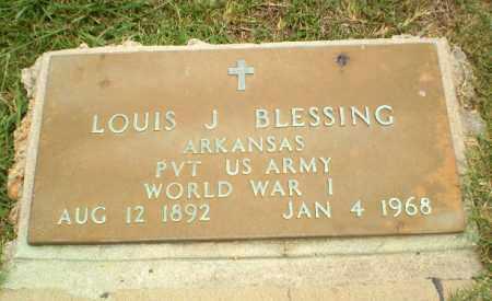 BLESSING  (VETERAN WWI), LOUIS J - Craighead County, Arkansas   LOUIS J BLESSING  (VETERAN WWI) - Arkansas Gravestone Photos
