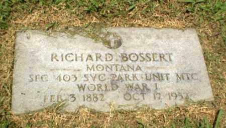 BOSSERT  (VETERAN WWI), RICHARD D - Craighead County, Arkansas   RICHARD D BOSSERT  (VETERAN WWI) - Arkansas Gravestone Photos