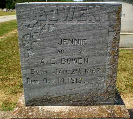 BOWEN, JENNIE - Craighead County, Arkansas | JENNIE BOWEN - Arkansas Gravestone Photos