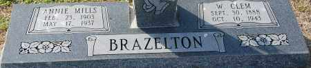 BRAZELTON, ANNIE MILLS - Craighead County, Arkansas | ANNIE MILLS BRAZELTON - Arkansas Gravestone Photos