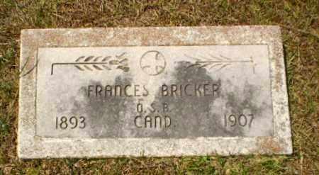 BRICKER, FRANCES - Craighead County, Arkansas   FRANCES BRICKER - Arkansas Gravestone Photos