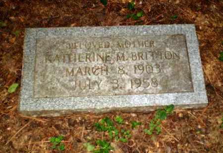 BRITTON, KATHERINE M - Craighead County, Arkansas | KATHERINE M BRITTON - Arkansas Gravestone Photos